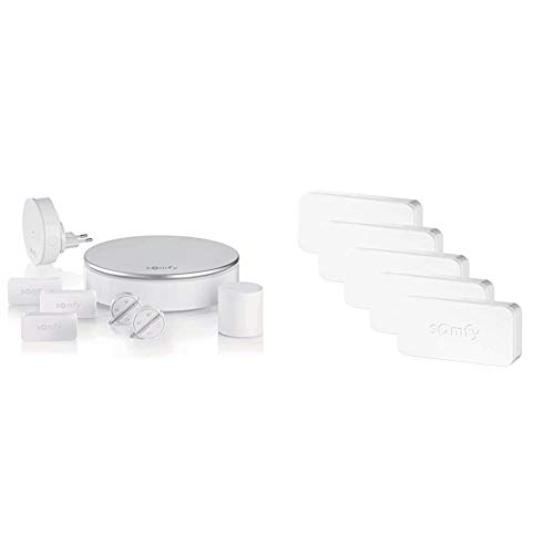 Somfy 2401497 - Home Alarm, vorbeugend, Wi-Fi, Wireless-Sicherheitssystem + Somfy Protect 2401488 IntelliTAG, intelligenter Sensor für Home Alarm