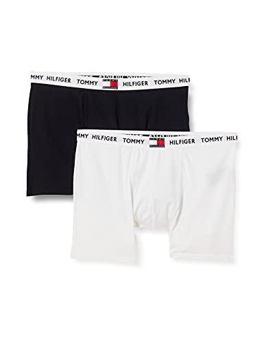Tommy Hilfiger Jungen 2P Boxer Brief Badehose, White/Desert Sky, 12/14/2020