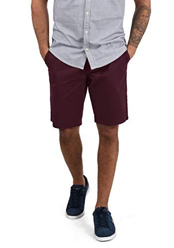 Blend Ragna Herren Chino Shorts Bermuda Kurze Hose Mit Kordel-Gürtel Aus 100% Baumwolle Regular Fit, Größe:L, Farbe:Wine Red (73812)