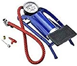 No strength required for pumping air as it is all electronic & is powered directly from your car battery Easy to use, Good quality, Long lasting Imported Aluminum Piston, Iron Base Frame. With high pressure accurate gauge, and you can clearly inflate...