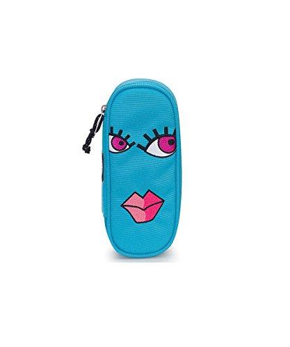 Portapenne INVICTA - LIP PENCIL BAG FACE - Azzurro - porta penne scomparto interno attrezzato
