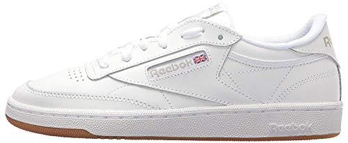 Reebok Women Club C 85 Sneaker, White/Light Grey/Gum, 6.5