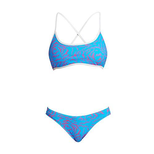 Funkita Fluff Ball Bikini Damen - Schwimmbikini für das Schwimmtraining, Größe:38