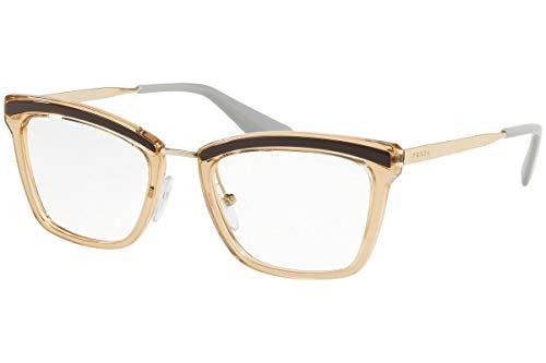 Prada 0PR 15UV Monturas de gafas, Bronw/Antique Pink, 50 para Mujer