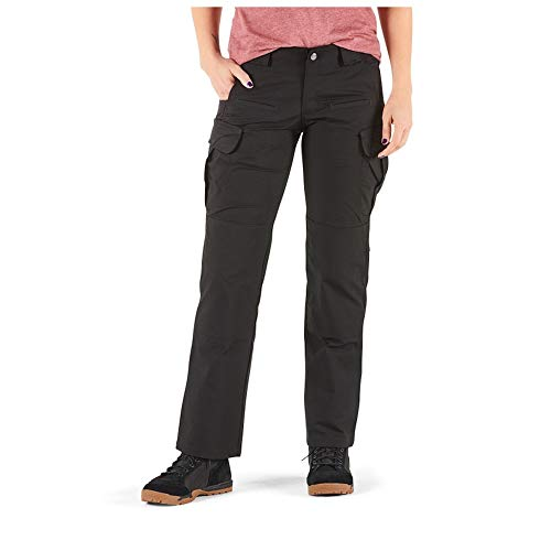 5.11 Tactical Women's Stryke Covert Cargo Pants, Stretchable, Gusseted Construction, Style 64386, Black, 16