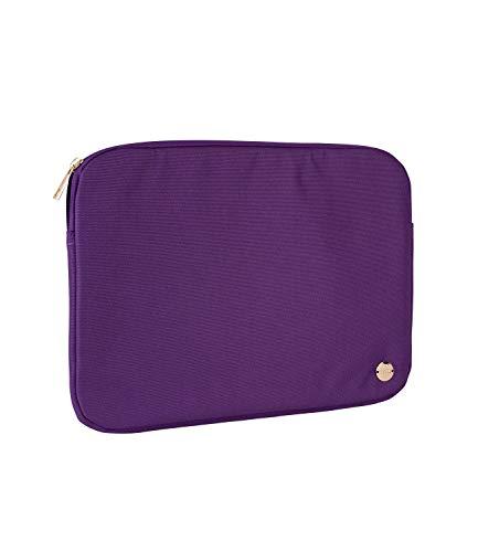 SIX Laptop-Tasche aus unempfindlichem Stoff in dunklem Lila mit goldenen Details (703-635)