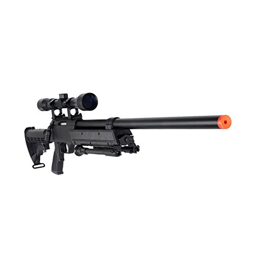 Well MB06AB Airsoft Bolt Action Sniper Rifle with Scope & Bipod FPS-460 - Black