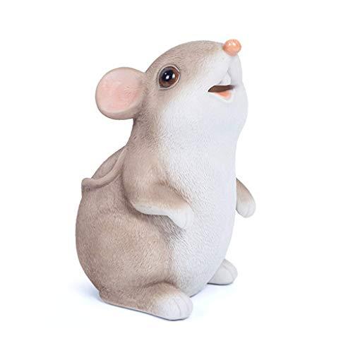 Qazxsw Cute Mouse Piggy Bank Caja de Almacenamiento de ratón de Dibujos Animados Niño y niña Banco de Dinero Creativo Decoraciones para el hogar Decoración de Escritorio Hucha Banco de Dinero