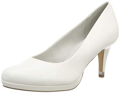 Tamaris Damen 1-1-22444-22 108 Pumps, Weiß (WHITE MATT 108), 37 EU