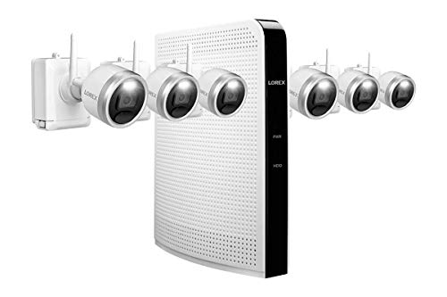 Lorex 1080p HD 1TB Wire-Free Security System with Six Battery-Operated Active Deterrence Cameras and Person Detection