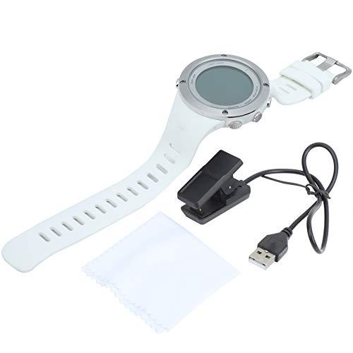 SALUTUYA Expedition Field Reloj cronógrafo, Reloj Digital Sumergible de Buceo Reloj de Pulsera Deportivo de natación Resistente al Agua de 100 m con función de Alarma de cronómetro(Blanco)