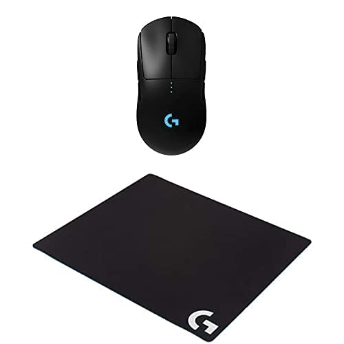 Logitech G Pro Wireless Gaming Mouse with Esports Grade Performance & G640 Large Cloth Gaming Mousepad