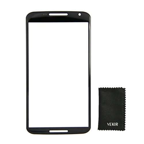 VEKIR Externa de Pantalla de Cristal Reemplazo Compatible con Google Nexus 6 Motorola Xt1100 Xt1103 Retailverpackung