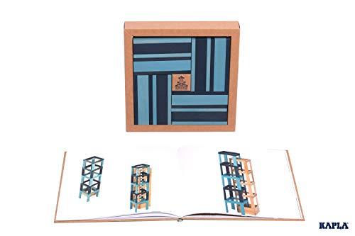 Kapla 9000105 Holzplättchen 40er Box Buch, Blau - 2
