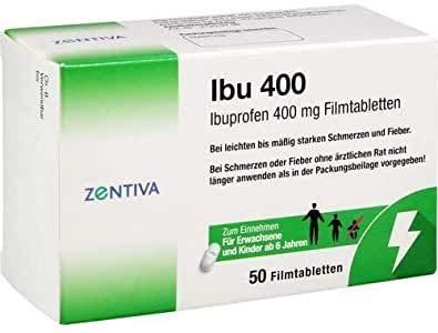Ibu 400 Ibuprofen 400mg 50 Filmtabletten