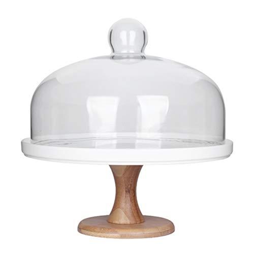 Assiette plate Support de dessert d'hôtel, plateau en céramique de plateau de pain de dôme de fruit à la maison de dôme de fruit Salad plate (taille : 26 * 26 * 29CM)