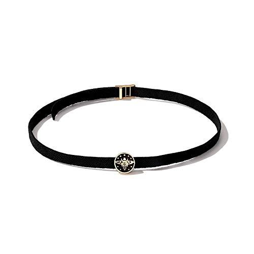 CLY necklace Halskette Schwarzes Schlüsselbein Kette Weibliches Kurzes Halsband Kleines Schmuckhalsband Halskette Schwarzes Seil
