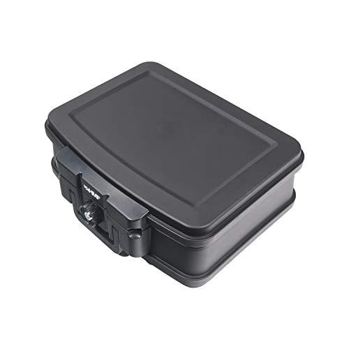 HMF 250452 Feuerfeste Wasserdichte Dokumentenbox | DIN A4 | 44,5 x 16,5 x 33 cm | schwarz