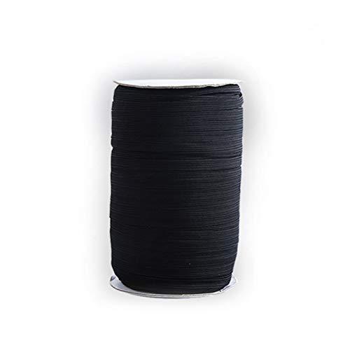 0,3/0,5/1,0 cm elastisches Seil, flaches Gummiband, geeignet zum Nähen/Stricken/Basteln/Schmuckmachen (92 M)