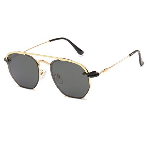 WHSS Gafas de Sol UV400 Metal Retro Driver Sunglasses Clip Gafas De Sol Polarizadas Hombres Y Mujeres Personalidad Gafas Irregulares