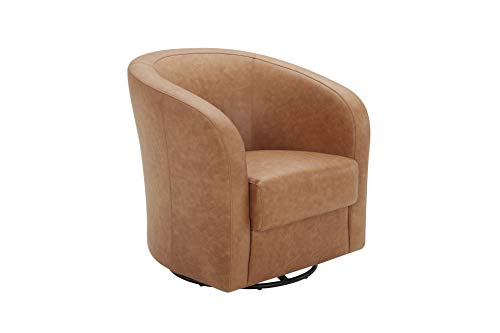 TITLE_Amazon Brand - Rivet Rione Leather Swivel Chair