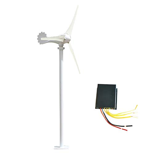 SYN-GUGAI 500W / 600W / 700W / 800W Windturbine Hybrid Windgenerator DC-12V / 24V Hybrid-Controller Wind Turbine Generator Hybrid-Laderegler Home Strom, wasserdichte Laderegler,800W12V-5 Leaves