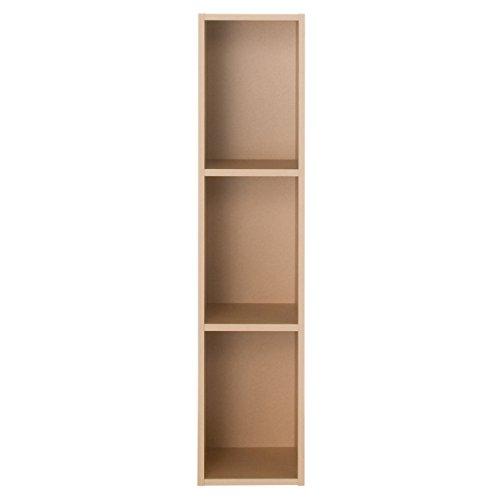 無印良品 パルプボードボックス・スリム・3段/ベージュ 幅25×奥行29×高さ109cm 日本製