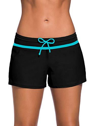 Yidarton Pantaloni da Nuoto Donna Pantaloncini da Bagno Costume a Pantaloncino da Mare Regolabile