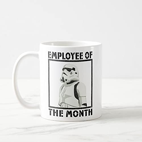 Yilooom Cute Cup Present, Taza de café Stormtrooper Employee Of The Month de 11 onzas