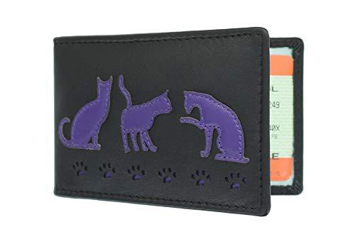Mala en cuir poppy cat appliques porte-monnaie avec porte-clés