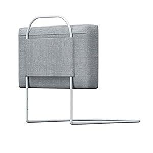 Barrera Cama Barrera de Seguridad Suave para Bebés, Barrera de Cama Anticaída con Cremallera Extraíble y Lavable, Tubo de Acero Ajustable de 40-60cm, Fácil de Instalar
