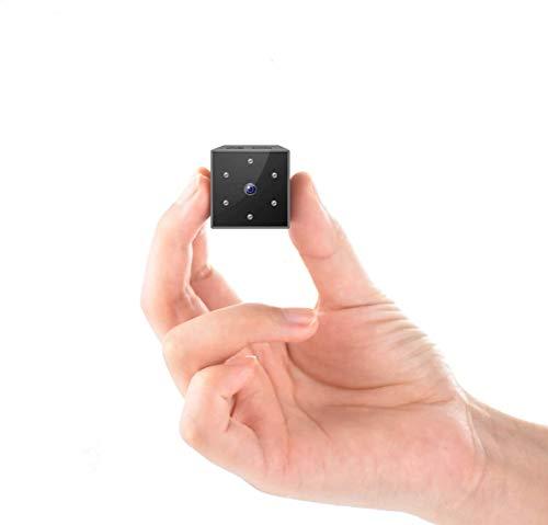 DOSNTO Mini Cámara Espía,1080P Full HD Cámara de Vigilancia Portátil Secreta y Compacta con Detector de Movimiento IR y Visión Nocturna, Cámara Oculta de Seguridad para Interior/Exterior Nanny-Camera