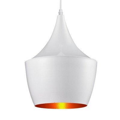 XY&XH lampadario, New 60W Lampada a sospensione Retro Vintage Tom Dixon Design Nero/Bianco Tipo B Cafe Sala giochi Lampade a sospensione ristorante, bianco