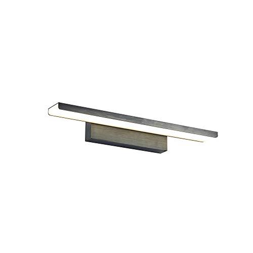 Schwarze LED Spiegelleuchte Make-up Licht Spiegellampe Schminklicht Schminkleuchte Schrank-Beleuchtung neutral-weiß 40cm inkl. 1 x 16W 4400K 1200 Lm IP20