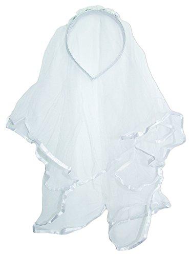 Funny Fashion Haarreif mit Brautschleier für Mädchen zum Kostüm oder für Damen zum Junggesellinnenabschied