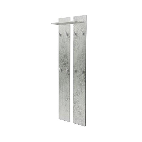 Vladon Wandpaneel Garderobenpaneel 170 in Beton Oxid Optik