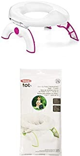 OXO Tot 2-in-1 Go Potty for Travel in Pink and Go Potty Refill Bags, 10 Count
