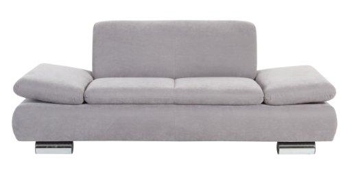 Max Winzer Sofa Tournai 2-Sitzer | Aus samtigem Flachgewebe in Grau