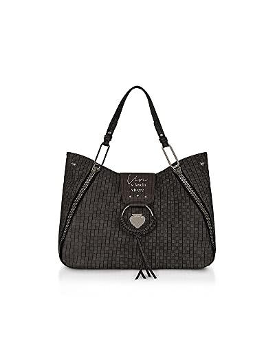 Le Pandorine Borsa Donna Shopping Grande Vicky Vivere Black