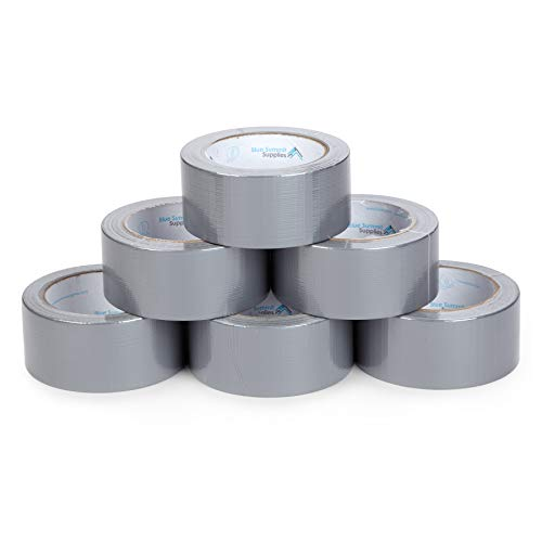 Blue Summit Supplies 6 Pack Duct Tape Multi Pack, Tear by Hand Design, Silver, Strong 7mil Thickness, Commercial Grade Strength, 30 Yard Length, 180 Total Yards Value Pack