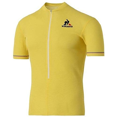 Le Coq Sportif Trikot Gelb TDF Cyclisme Merino – Farbe Gelb – S
