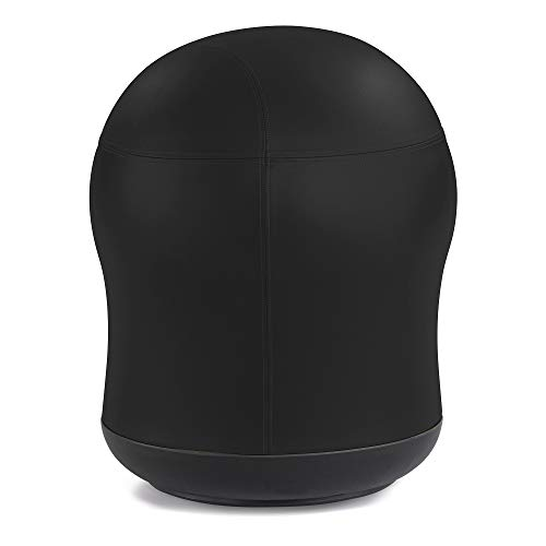 Safco Zenergy Swivel Ball Chair, Black Vinyl -  4760BV