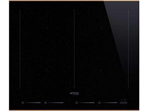 Smeg SIM662WLDR hobs Negro Integrado Con - Placa (Negro, Integrado, Con placa de inducción, Cerámico, 2100 W, Rectangular)