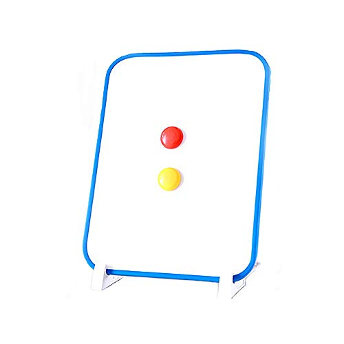 Luqifei Whiteboard Tragbare White Reminder-Brett-magnetischer Desktop-Whiteboard Staffelei Dry Erase Faltbare Tisch White Board Hinweis Memo Planer White Board (Color : AS Shown, Size : 21x28X1.2cm)