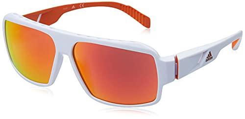adidas SP0026 Gafas, Blanco/Naranja, Talla única Unisex Adulto