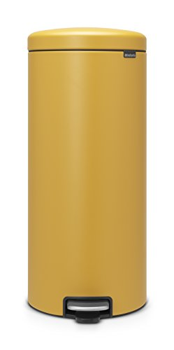 Brabantia newIcon Sense of Luxury Pedal Bin, 30 L - Mineral Mustard Yellow