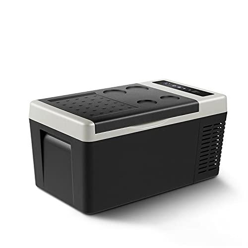 YELLAYBY Quick Cooling 18L AC/DC12V24V Car Refrigerator Portable Camping Outdoor Picnic Mini Fridge Compressor Deep Freezer Cooler Box for Travel Home Mini Portable (Color Name : Black light grey)