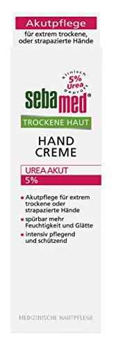 Trockene Haut Handcreme 5% Urea Akut 75 ml, lindert spürbar Spannungsgefühl, Rauheit und Rissigkeit und hilft, die natürliche Feuchtigkeitsbalance wieder herzustellen