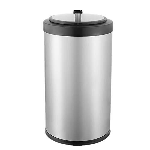 JOMSK - Cubo de basura de acero inoxidable de 9 l y 12 l de acero inoxidable inteligente de inducción para la eliminación de residuos higiénicos (color: color de foto, tamaño: 9 L)