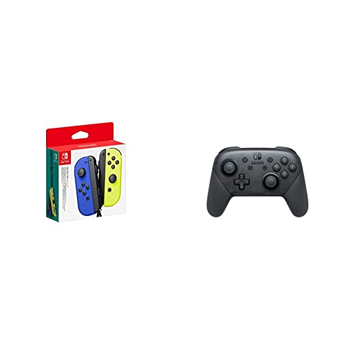 Nintendo Joy-Con 2er-Set, blau/neon-gelb & Switch Pro Controller